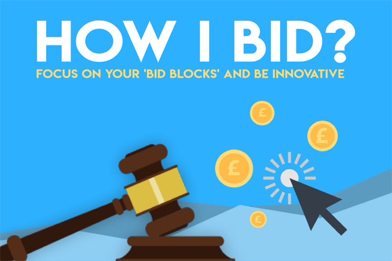 How I Bid:  Focus on your 'bid blocks' and be Innovative